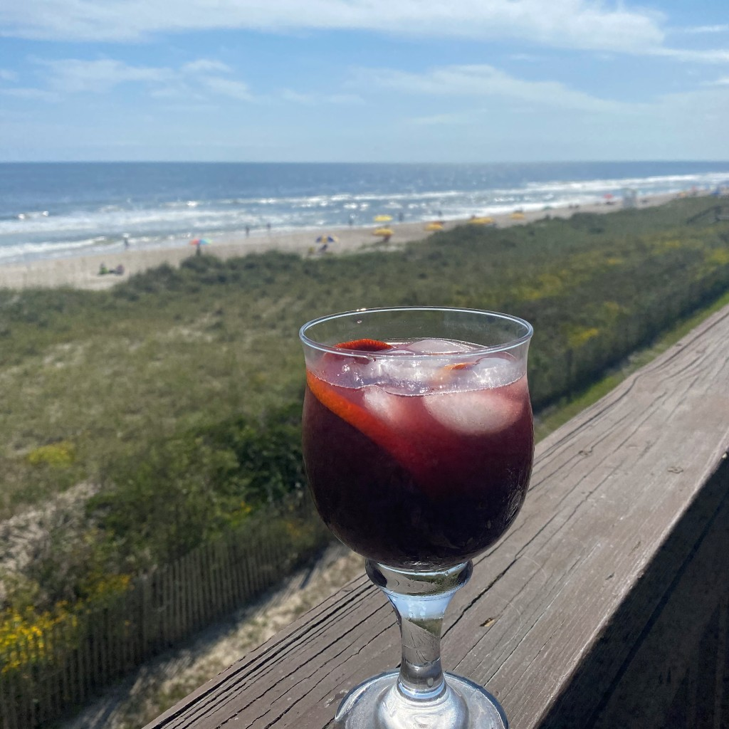 Perfect for sipping while watching beach dogs and pelicans.